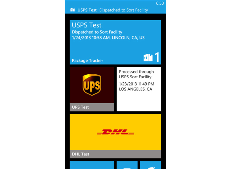 Package Tracker for Windows Phone Modal 1