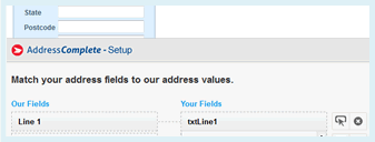 Match your address fields
