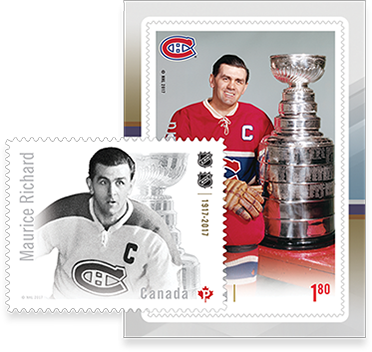 Maurice Richard stamp